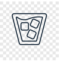 cocktail concept linear icon isolated on vector image