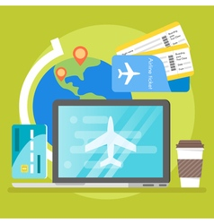 Concept of book online tickets vector