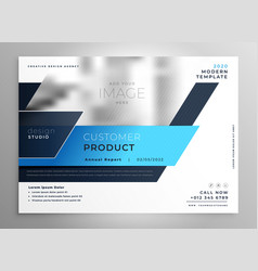 creative blue modern business flyer presentation vector image