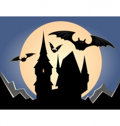 dark night vector image