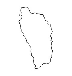 Dominica map of black contour curves of vector