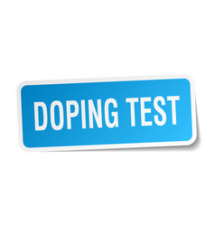 Doping test square sticker on white vector