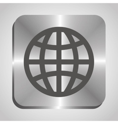 Earth planet graphic icon vector