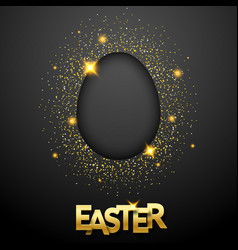 easter black background with confetti egg vector image
