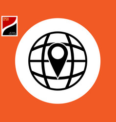 flat icon of the globe vector image