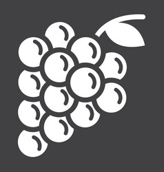 grapes solid icon fruit and vitamin vector image