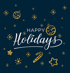 Happy holidays beautiful greeting card vector