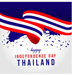 Happy thailand independent day template design vector