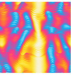 Infrared waves seamless pattern vector