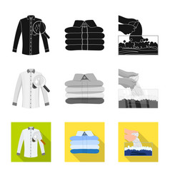 Isolated object of laundry and clean symbol set vector