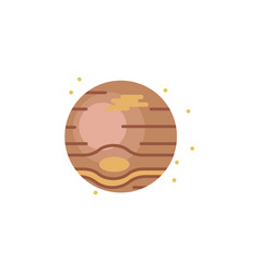 jupiter colored icon element of space signs and vector image