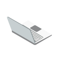 laptop computer isometric 3d icon vector image