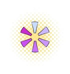 Loading process circular icon comics style vector