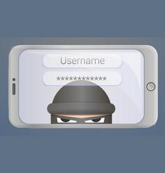Login password phishing concept background vector