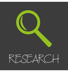 magnifier research design banner and background vector image