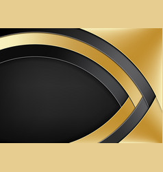 Modern background with gold and black layers vector