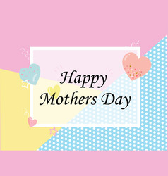 mothers day sale background layout with heart vector image