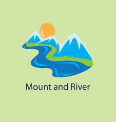 Mount And River Logo vector