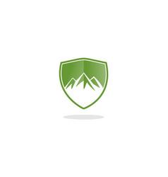 mountain shield logo vector image