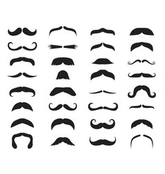 moustache icons black moustaches man accessories vector image