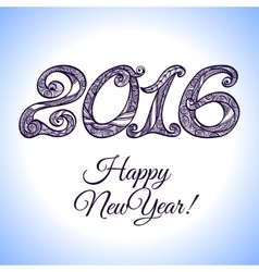 New Year 2016 Typography vector image