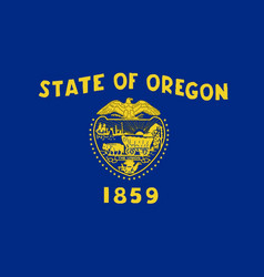 Oregon state flag vector
