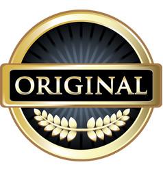 Original gold label vector