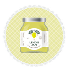 Packaging lemon jam label vector