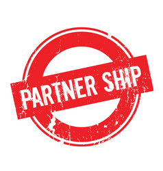 partner ship rubber stamp vector image