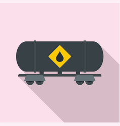 petrol wagon icon flat style vector image