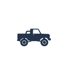 pickup truck icon on white vector image