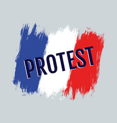 protest in the france vector image