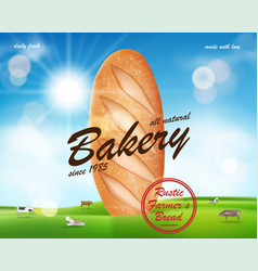 realistic bakery ads banner delicious french vector image