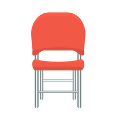 red chair with flat and solid color design vector image