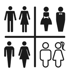 Restroom icon set isolated on white vector image