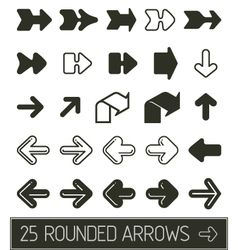 Rounded Arrows collection vector image