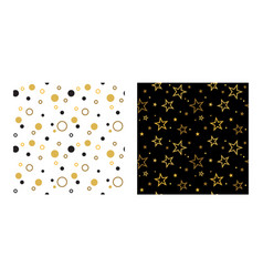 seamless party patterns with stars and confetti vector image