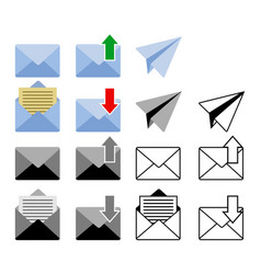 sent and get mail icon vector image
