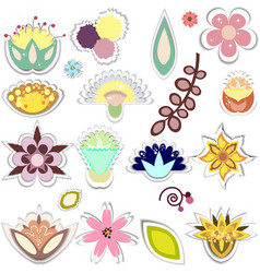 Set of decorative elements separated vector
