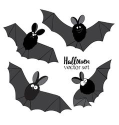 Set of ridiculous animation bats an vector