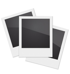Set Retro Photo Frame Polaroid On White vector image