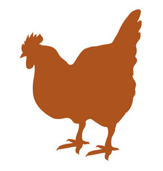 silhouette of hen isolated vector image