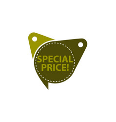 special price tag template isolated vector image