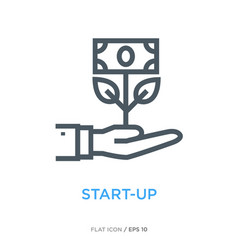 start-up symbol line flat icon vector image