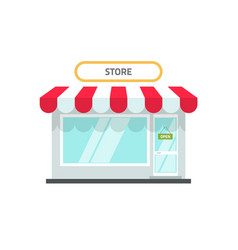 store or shop facade flat vector image