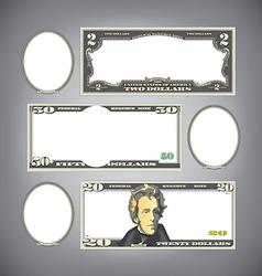 Stylized money vector image