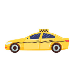 taxi car for transportation isolated on white vector image