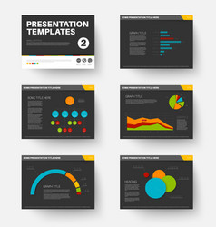 template for presentation slides 2 vector image