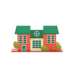 traditional cottage building real estate front vector image