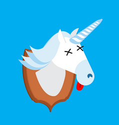 unicorn hunter trophy head is fantastic animal vector image